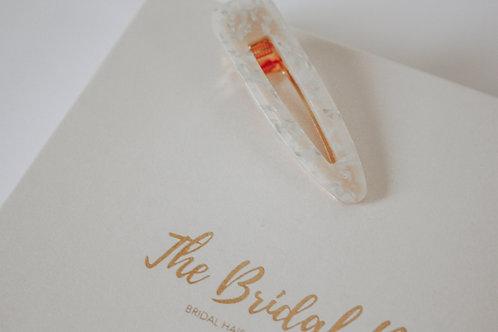 Bridal clip - White hollywood