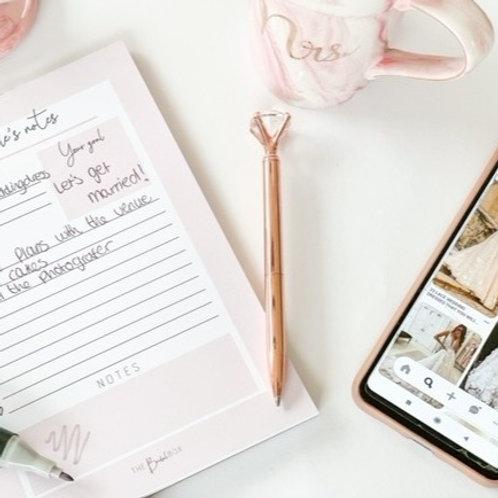 Diamond pen - rosé gold