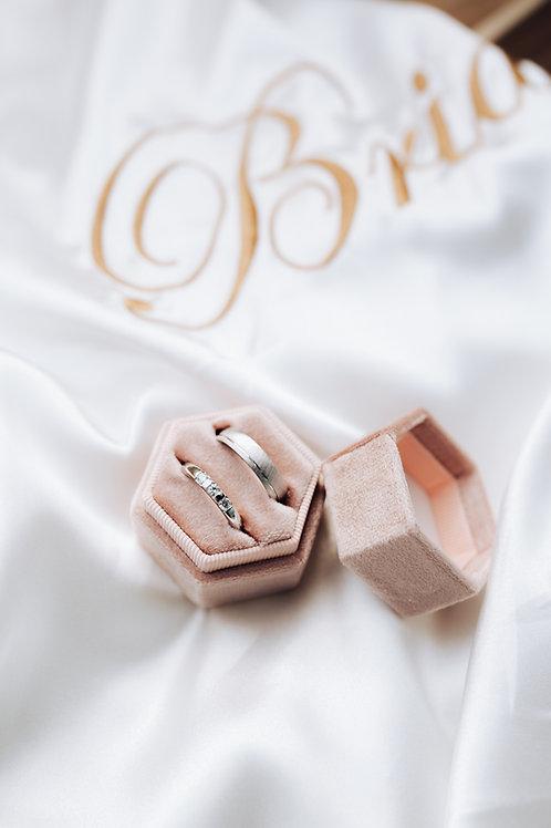 Velvet ringbox - Nude/pink