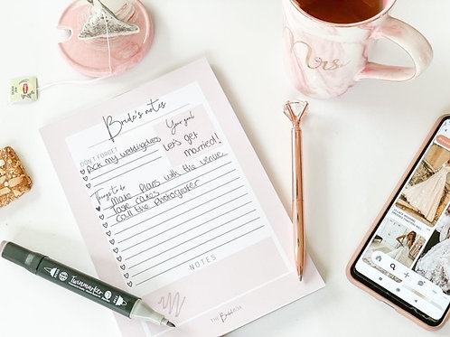 Bride's notes - To Do Lists