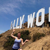 Definitely not allowed to get this close to the Hollywood Sign!
