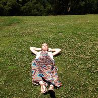 Taking my spot atop Hippie Hill