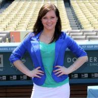 Filming at Dodger Stadium for FOX Sports Radio