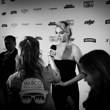 Interviewing Kate Upton at the Sports Illustrated Swimsuit event