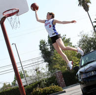 Recreating Blake Griffin's over-the-car dunk to win floor seats to Clippers playoffs!