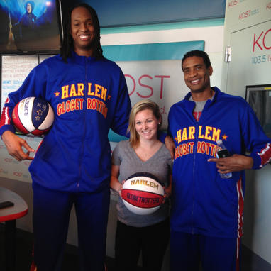 The ridiculously tall Harlem Globetrotters