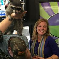 KRBE makin' my dreams come true with a pet raccoon in studio!