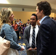 Meeting Joel Osteen at his church in Houston