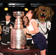 Meeting the Stanley Cup at FOX Sports Radio after the LA Kings' 1st cup win EVER in 2012...