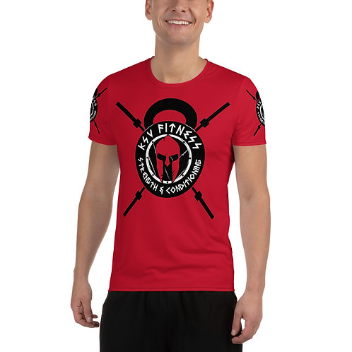 Men's Athletic T-shirt Red KSV Logo 2