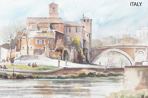 The Tiber River, Rome, 1974