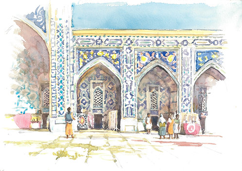 The Registan inner courtyard, Samarkand, 2001