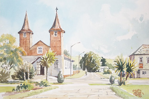 Chacao Church on Chiloe Island, 1990