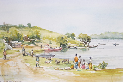 Small bay on Lake Kiva, near Kibuye, 2016