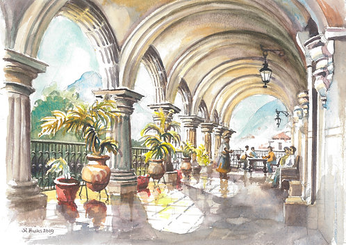 Stunning arches in Central Plaza, Antigua, 2009