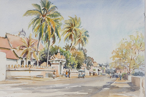 River side road,Vientiane, 1999