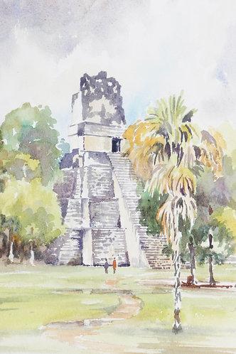Small part of Tikal Maya Ruins, 1976