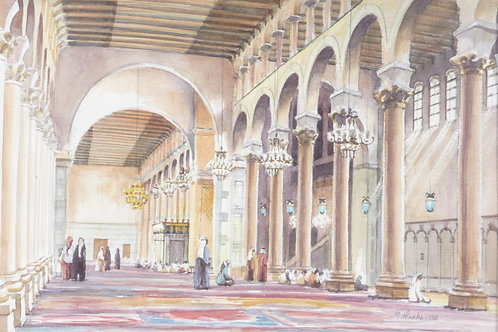 The Umayyad Mosque in Damascus, 1980