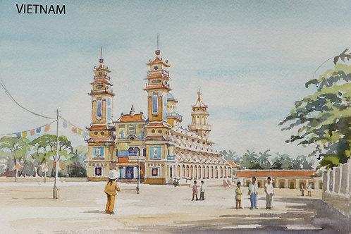 Cai Dai Temple at Tay Ninh near Saigon, 1999