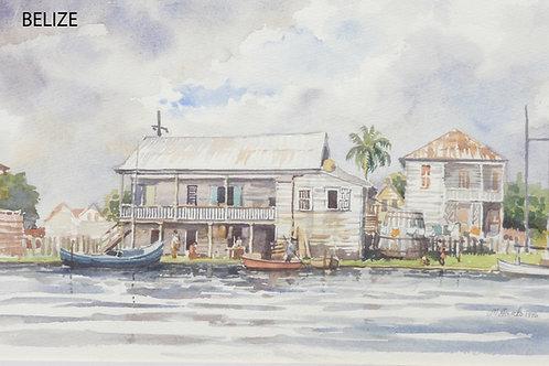 Canal Scene, Belize, 1976