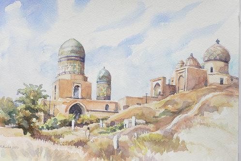 Shakh-i Zinda Mausoleum at Samarkand, 2001