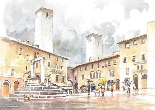 San Gimignano, SW of Florence, 2008