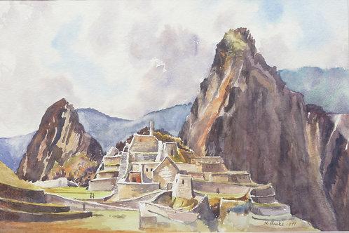 Inca ruins at Machupicchu, 1971