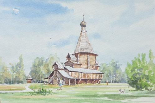 Wooden church at Arkhangelsk