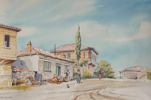 Typical village scene near Egirdir, 1968
