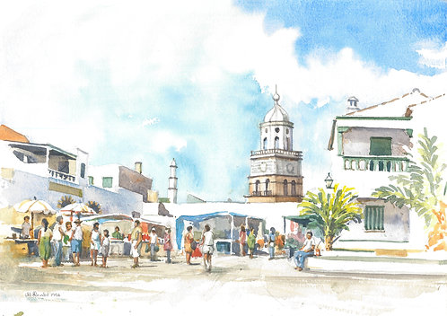 Teguise Market in Lanzarote, 1996