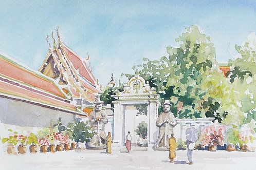Entrance to Wat Pho Temple, Bangkok, 2000