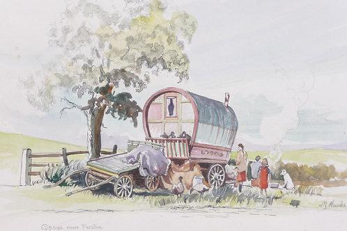 Gypsy Camp near Preston, 1981