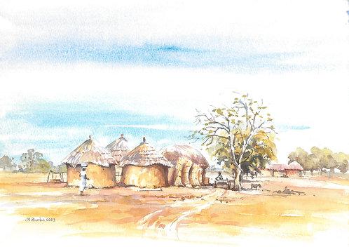 Small farming village near Po, 2004