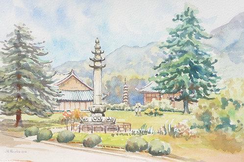 Pohyon Temple at Mount Myohyang, 2011