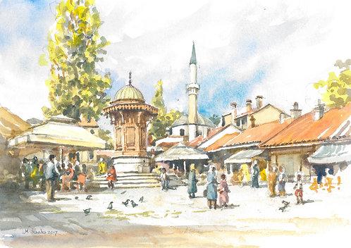 Dobra Knjiga (Pigeon Square) Sarajevo,