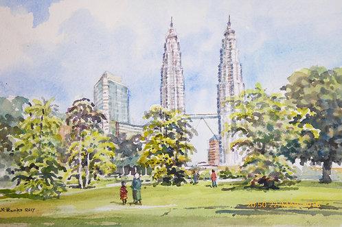 Twin Towers, Kuala Lumpur, 2017
