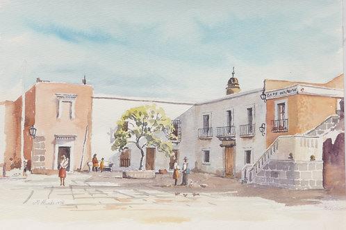 Attracive little plaza in Puabla, 1976