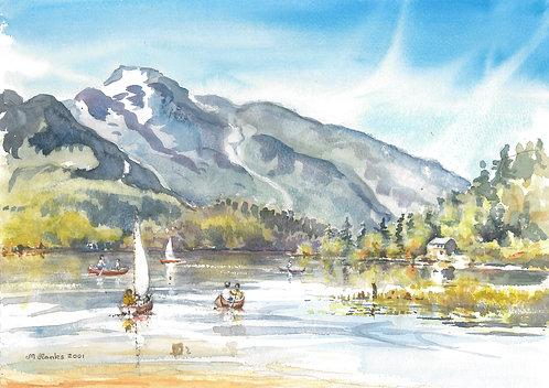 Whistler Mountain from Alta Lake, 2001
