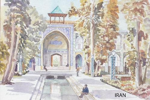 Mosque Courtyard at Isfahan, 1968