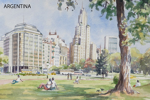 Plaza San Martin, Buenos Aires,1971
