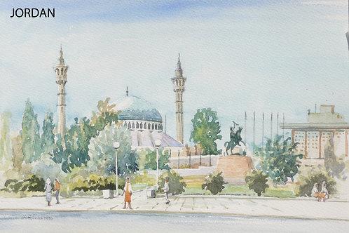 King Abdullah I Mosque in Amman, 1996