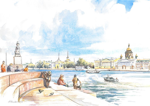 The Neva River, St. Petersburg, 2003
