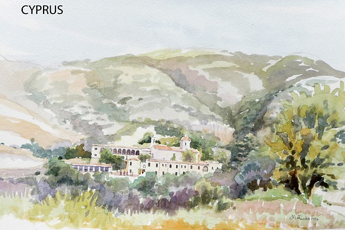 Monastery in hills near Paphos, 1984