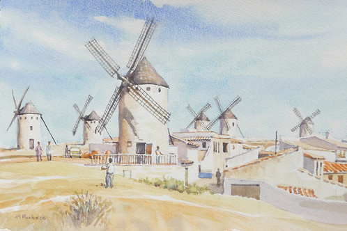 Hill of windmills near Cuenca