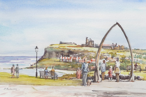 Whitby from cliff top, 2015