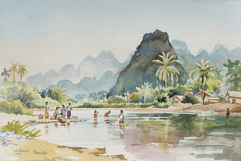 The Mekong River, south of Vang Vieng (A), 1999