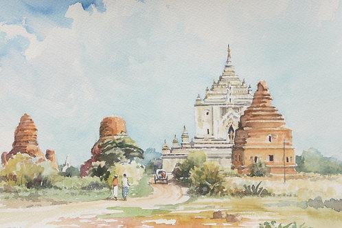 Thatbyinnyu Temple in old Bagan, 1994
