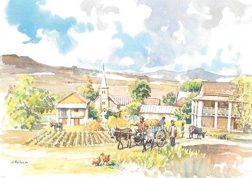 Farm and village near Antsirabe, 2006