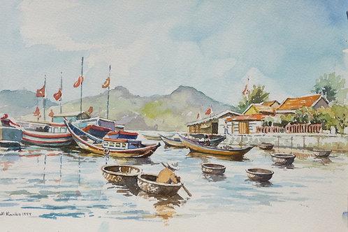 Fishing port on Nha Trang, 1999