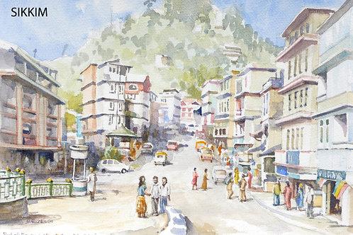 Gangtok main street, 2009
